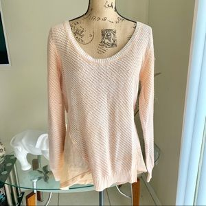We the free peach knitted sweater sz L